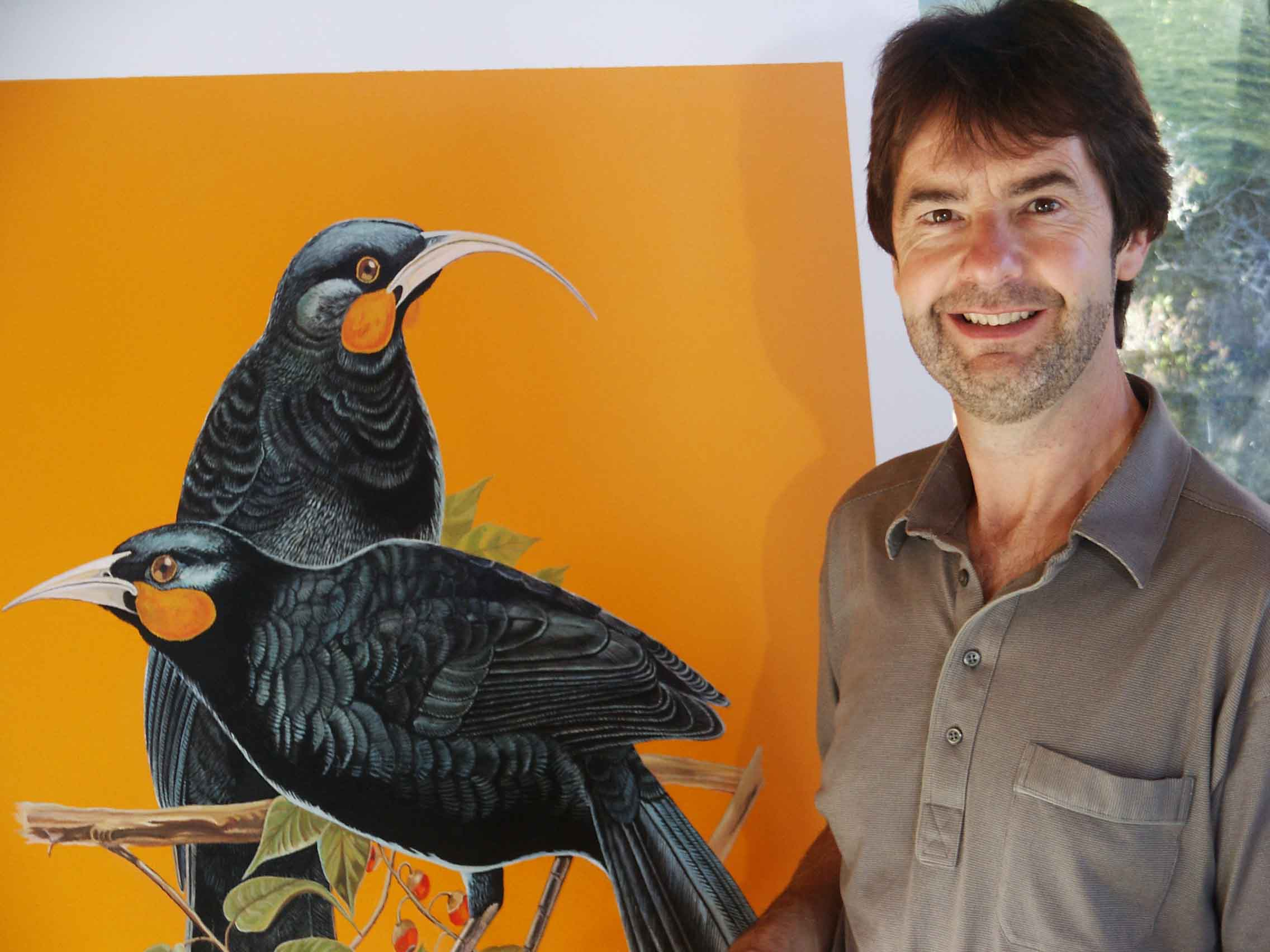 Me with Huia Painting
