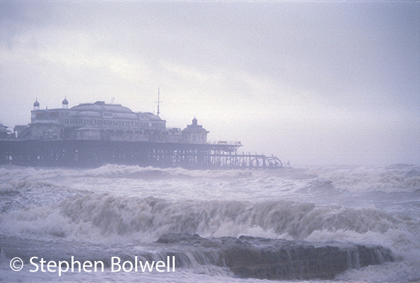 The Palace Pier Brighton on one of those rough days when I didn't want to be on it.