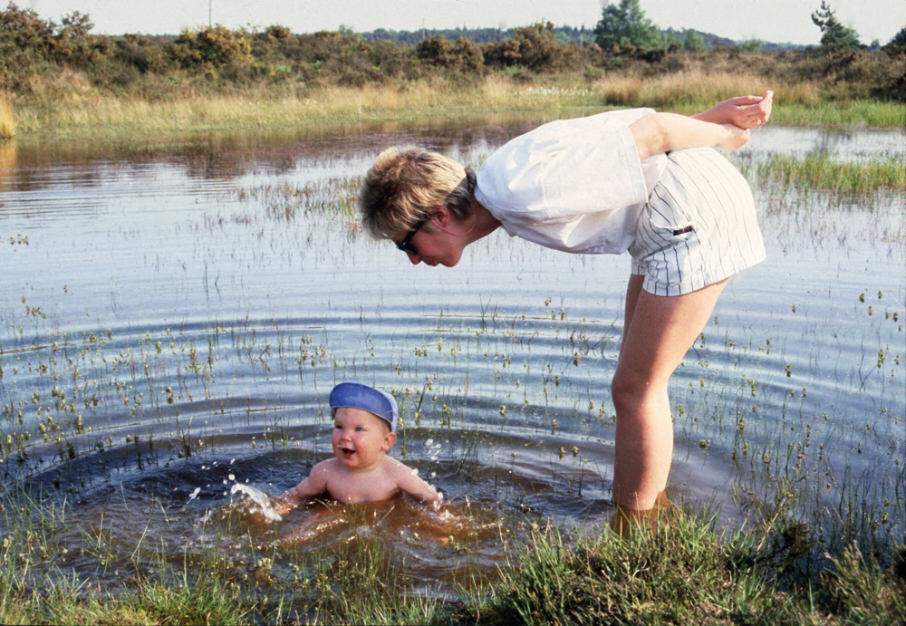 The date of this picture can't be disputed - this is my young son in a New Forest pond while his mother blows raspberries at him which he seems to enjoy.