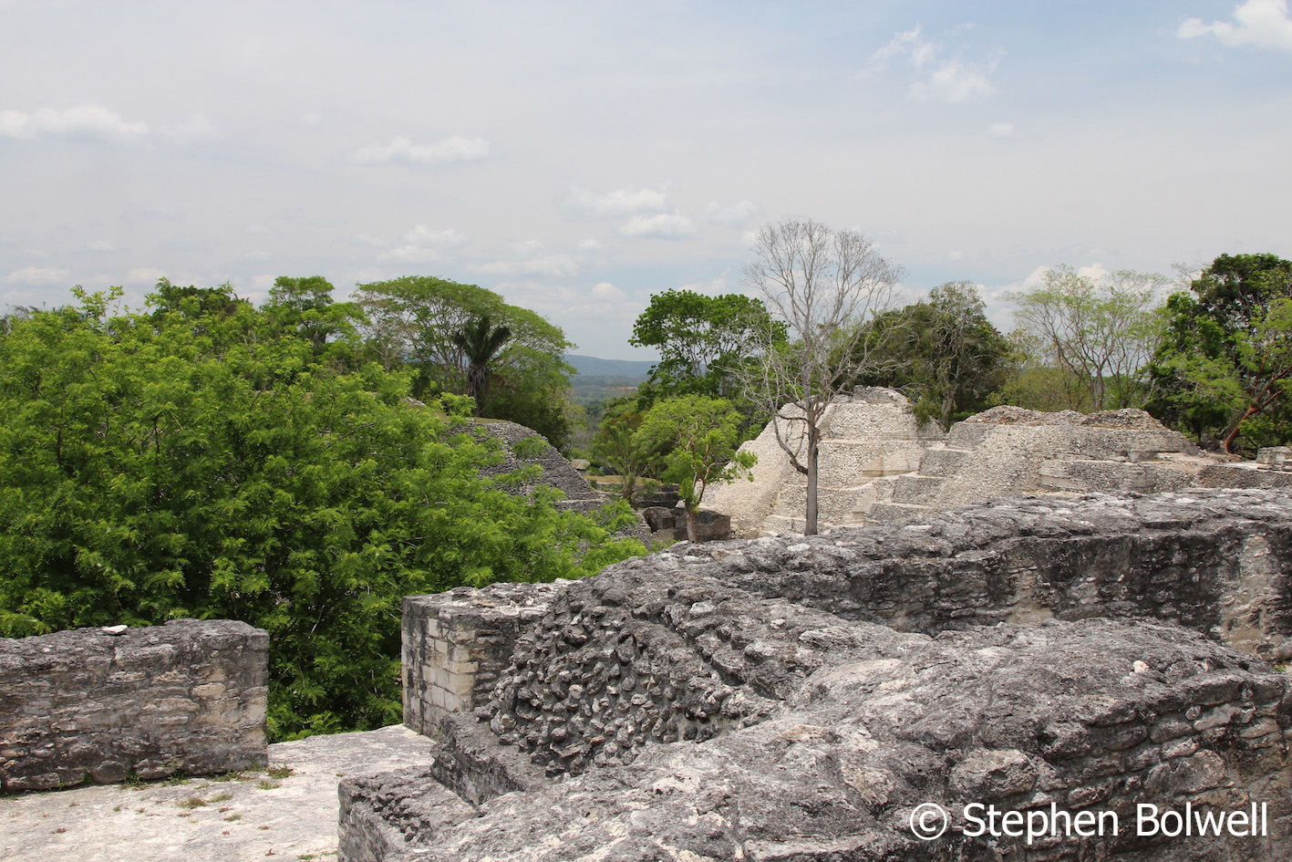 The Xunantunich Mayan ruins are set in sub-tropical forest... or more honestly, they are if you get your camera angles right. What each of us sees in a photograph mirrors our hopes and dreams - photographers are mostly there to fill in the dots of our wishful thinking.